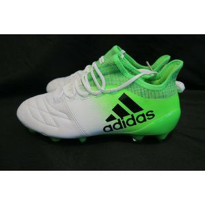 ADIDAS X 16.1 LEATHER SG SOCCER CLEATS BOOTS WHITE